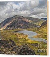Idwal Lake Snowdonia Wood Print