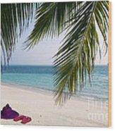 Idyllic Beach Just Waiting For You Wood Print