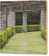 Idyllic Garden Wood Print