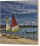 Idyllic Thai Beach Scene Wood Print
