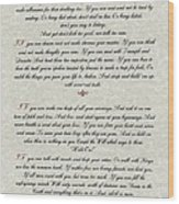 If By Rudyard Kipling Typography On Parchment Wood Print