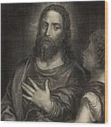 If Thou Be The Son Of God 1886 Engraving Wood Print by Antique Engravings