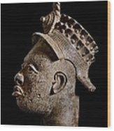 Ife Bronze Royal Head Portrait Wood Print