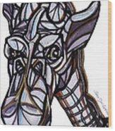 iGiraffe Wood Print