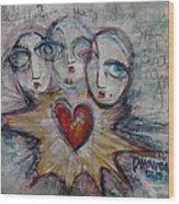 Ignite Love Number 1 Wood Print