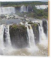Iguacu Falls Brazilian Side Wood Print