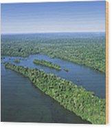 Iguacu River Above Iguacu Falls Brazil Wood Print