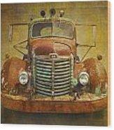 Ih Truck Wood Print