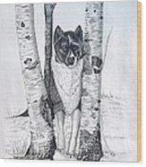 Ihasa In The Woods Wood Print by Joette Snyder