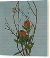 Ikebana Dancers Wood Print