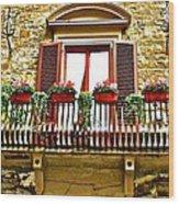 Il Balcone Di Firenze Wood Print