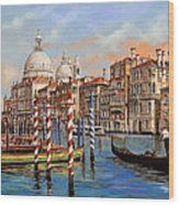 Il Canal Grande Wood Print by Guido Borelli