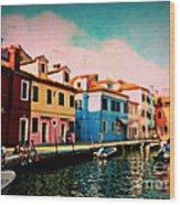 Il Colorato Villaggio Wood Print
