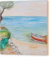 Il Pescatore Solitario Wood Print