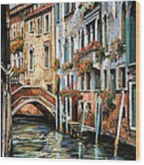 Il Ponte E I Pali Wood Print
