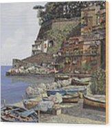 il porto di Sorrento Wood Print