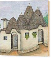 Il Trullo Alberobello Wood Print