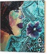 Ilana Wood Print by Diane Fine