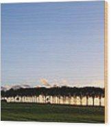 Ile De France Sunset Wood Print