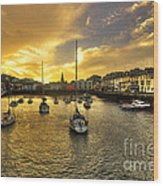 Ilfracombe Harbour At Dusk  Wood Print