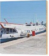 Ilida II Hydrofoil At Kerkira Wood Print