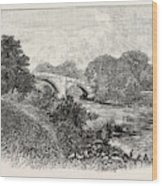 Ilkley Bridge, Uk. Ilkley Is A Spa Town And Civil Parish Wood Print