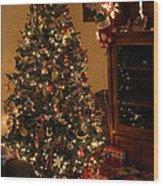 I'll Be Home For Christmas Wood Print