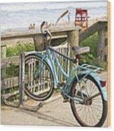 Ill Get My Bike Wood Print