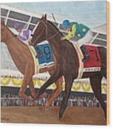 I'll Have Another Wins Preakness Wood Print by Glenn Stallings