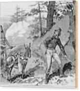 Illegal Prospecting, 1879 Wood Print