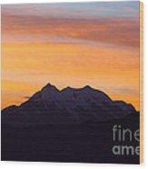 Illimani Sunrise Wood Print
