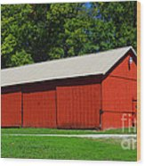Illinois Red Barn Wood Print