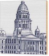 Illinois State Capitol Wood Print