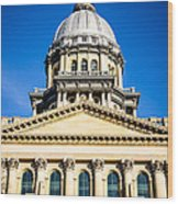 Illinois State Capitol In Springfield Wood Print