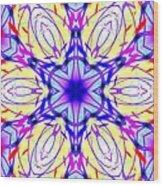Illuminated Blossom Wood Print
