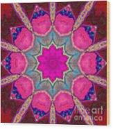 Illuminated Rose Wood Print