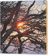Illuminating Sunset Wood Print