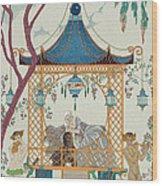 Illustration For 'fetes Galantes' Wood Print