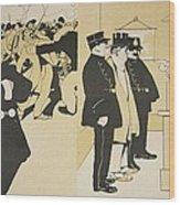 Illustration From Lassiette Au Beurre Wood Print