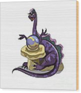 Illustration Of A Plateosaurus Fortune Wood Print