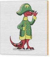 Illustration Of A Tyrannosaur Rex Wood Print