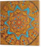 Illustrious Hue Mandala Wood Print