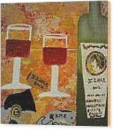 Ilona Wine Wood Print by Dori Meyers