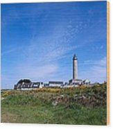 Ils De Batz Lighthouse Wood Print