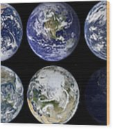 Image Comparison Of Iconic Views Wood Print