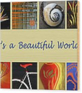 Image Mosaic - Promotional Collage Wood Print by Ben and Raisa Gertsberg