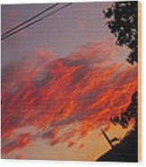 Imagening Orange Wood Print
