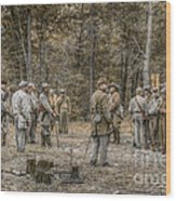 Images Of The Civil War Confederate Soldiers Wood Print