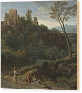 Imaginary Landscape With Buildings In Tivoli Wood Print