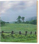 Imaginary Morning On The Blue Ridge I Wood Print